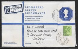 Great Britain - 75p Registered Stationery Envelope - G Size - Uprated 1980 - Entiers Postaux