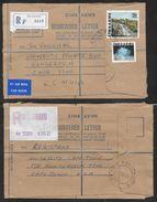 Zimbabwe - Two Registered Covers - Bulawayo To South Africa 1980's - Zimbabwe (1980-...)