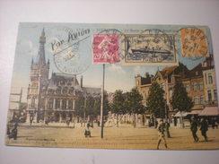 Tourcoing, La Bourse Et Place De La République, Par Avion, 1935, Timbres, Sté AIR BLEU (A4) - Tourcoing