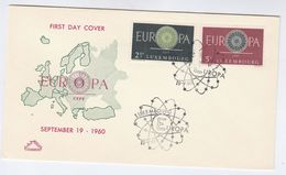 1960 LUXEMBOURG FDC Stamps EUROPA Cover - FDC