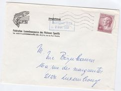 LUXEMBOURG COVER Illus ADVERT FISH Sport ANGLING  Federation ADVERT, Stamps - Luxembourg