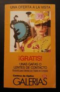 CENTRO DE ÓPTICA GALERÍAS. DÍPTICO - Publicidad