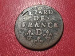 Liard De France Louis XIV 1655 D Lyon 5430 - 987-1789 Monnaies Royales