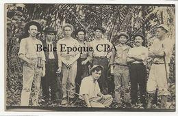 Panama - CANAL ZONE - Group Of Men ++++ CARTE-PHOTO / Real Photo Postcard - Panama