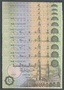 Egypt 50 Piastres P-62 X 10 PCS. UNC!!! - Alla Rinfusa - Banconote