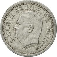 Monaco, Louis II, Franc, Undated (1943), Poissy, TB+, Aluminium, KM:120 - 1922-1949 Louis II