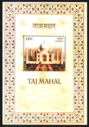 INDIA STAMPS, TAJ MAHAL MINIATURE SHEET, 16 DEC 2004, MNH - Unused Stamps