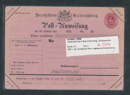 Braunschweig  Postanweisung( Ze 7389 ) Siehe Scan ! - Ganzsachen