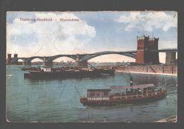 Duisburg / Duisburg-Hochfeld - Rheinbrücke - Military Post Belgiën - 1921 - Schiff / Boat / Bateau - Duisburg