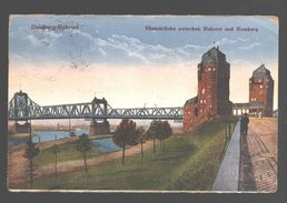 Duisburg / Duisburg-Ruhrort - Rheinbrücke Zwischen Ruhrort Und Homberg - Military Post Belgiën - 1921 - Duisburg