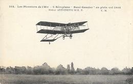 Les Pionniers De L'air: L'Aéroplane René Gasnier En Plein Vol 1908, Moteur Antoinette - Carte C.M. N° 102 Non Circulée - ....-1914: Précurseurs