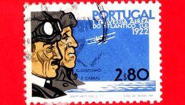 PORTOGALLO - Usato - 1972 - 50° Anniversario Del 1° Volo Lisbona-Rio De Janeiro - G. Coutinho E S. Cabral, Piloti - 2.80 - 1910-... République