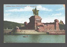 Koblenz / Coblenz - Kaiser-Wilhelm-Denkmal - Das Deutsche Eck - 1922 - Army Post - Koblenz