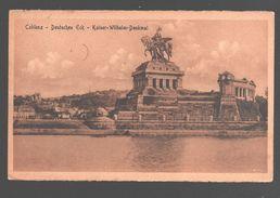 Koblenz / Coblenz - Deutsches Eck - Kaiser-Wilhelm-Denkmal - 1922 - Army Post Belgiën - Koblenz
