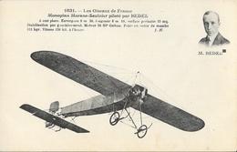 Les Oiseaux De France: Monoplan Morane-Saulnier Piloté Par Bedel, Moteur Gnôme - Carte Non Circulée - ....-1914: Précurseurs