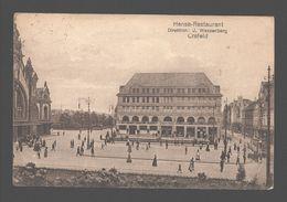 Krefeld / Crefeld - Hansa-Restaurant - Direktion: J. Wassenberg - 1921 - Animiert - Tram / Tramway - Krefeld