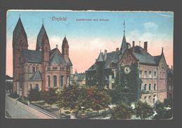 Krefeld / Crefeld - Josefkirche Mit Schule - 1922 - Krefeld