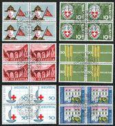 LA SERIE 5xBLOCS DE 4 OBLITERES 1er/J.21.3.1963. C/.S.B.K. Nr:395/400. Y&TELLIER Nr:705/710. MICHEL Nr:768/771. - Schweiz