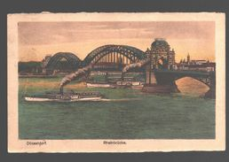 Düsseldorf - Rheinbrücke - 1923 - Schiff / Boat / Bateau - Düsseldorf