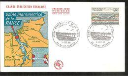 FDC 1966 USINE MAREMOTRICE DE LA RANCE - 1960-1969