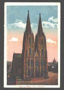 Köln - Dom - Westseite - 1920 - Belgiën Army Post - Koeln