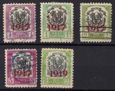1917  DOMINICAINE  Obl 190 A 193 +194 - Dominicaine (République)