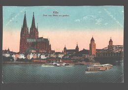Köln - Dom Vom Rhein Aus Gesehen - 1920 - Punktstempel / Puntstempel - Koeln