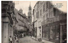 Nièvre - NEVERS - Rue Du Commerce Et Beffroi - Tabac - 1922 - Nevers