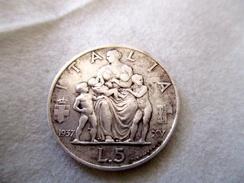 Italie: 5 Lire 1937 Famiglia - 1900-1946 : Victor Emmanuel III & Umberto II