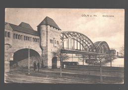 Köln - Südbrücke - Notstempel / Noodstempel Sclessin - Stempel 'Censure Militaire Belge' / Militärzensur - Kirchlengern