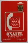 BURKINA FASO - Chip - 1st Issue - 10 Units - Onatel - 41291 - Mint - Burkina Faso