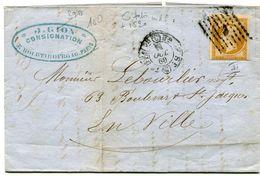 PARIS LAC Du 11/10/1860 Avec N°13 Oblitéré Du Bureau C + Dateur 1520 - 1849-1876: Periodo Clásico