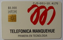 CHILE - Telkor Trial - $5,000 - Soliac Chip - Antenna - Mint - Chile