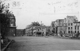 Carte Photo Caen 14 Calvados Destruction 1944 Guerre Rue Sadi Carnot Voir Dos Trace De Colle - Caen