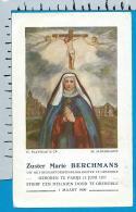 Holycard     Zr. Mrie    Berchmans   Paris   Grenoble - Devotion Images