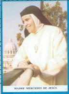 Holycard     Madre Mercedes De Jesus - Devotieprenten
