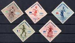 1957 DOMINICAINE  Neuf Sans Gomme 457 A 461 - Dominicaine (République)