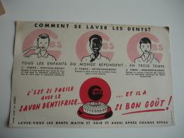 Comment Se Laver Les Dents  Gibbs  Savon  Buvard - G