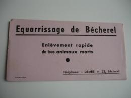 Lot De 4 Equarissage Becherel Memee N 23pharmacie Buvard - Blotters