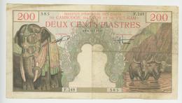 200  Piastres - Cambodge, Laos, Viet-Nam - 1953 - N° F.249  585 - TB+ - - Indochina