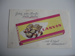 Chocolat Lanvin Noisette Praline   Buvard - Cocoa & Chocolat