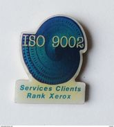 Pin's Informatique RANK XEROS Services Clients ISO 9002 - 40R - Informatique