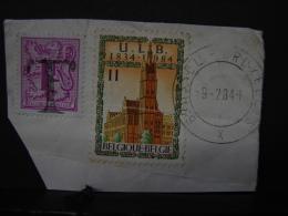 Taxe. 14. Sur Timbre De 1 Franc Et Fragment De Lettre. Oblitération 1984 - Taxes