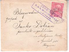 0569   SLOVENIJA  BRIEF  K.U.K.  ZENSUR   LAIBACH   STEMPEL  JEZICA - Slovenia