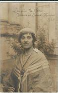 Herault : Lamalou Les Bains, Concours De Beauté Ethnique 1920, 1er Prix, Carte-Photo D'une Serie De 4... - Lamalou Les Bains
