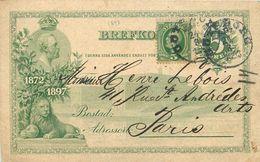 Suède - ENTIER POSTAL DE 1898. - Entiers Postaux