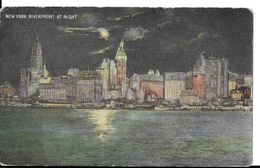 CPA NEW YORK  (Etats-Unis).  New York Riverfront At Night. .A885 - Multi-vues, Vues Panoramiques