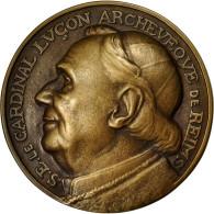 France, Medal, SFAM, Cardinal Luçon, Cathédrale De Reims, 1928, Niclausse - Francia
