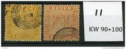 2 X Baden 11  Ø  KW 190-   €  Deux Nuances  2 Farben - Bade