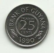 1990 - Guyana 25 Cents, - Guyana